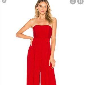 REVOLVE Red strapless jumpsuit